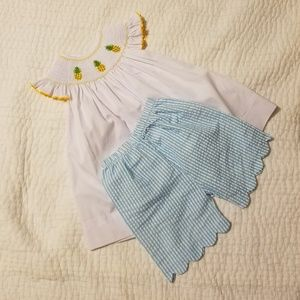 Smocked outfit by Once Upon a Boutique